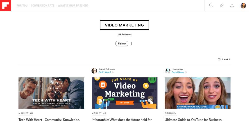 Flipboard Video Marketing Blog