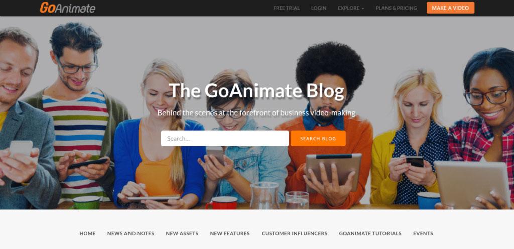 Go Animate Blog