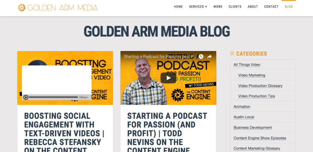 Golden Arm Media Blog