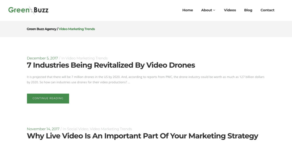Green Buzz Blogs
