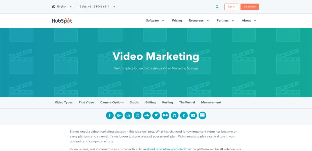 Hubspot Video Marketing Blog