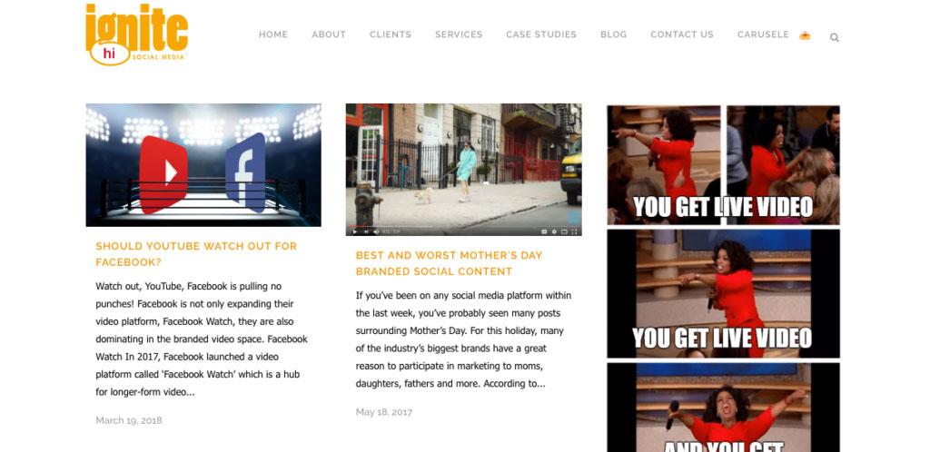 Ignite Social Media Video Marketing Blog