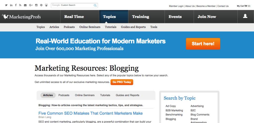 Marketing Profs Blogs