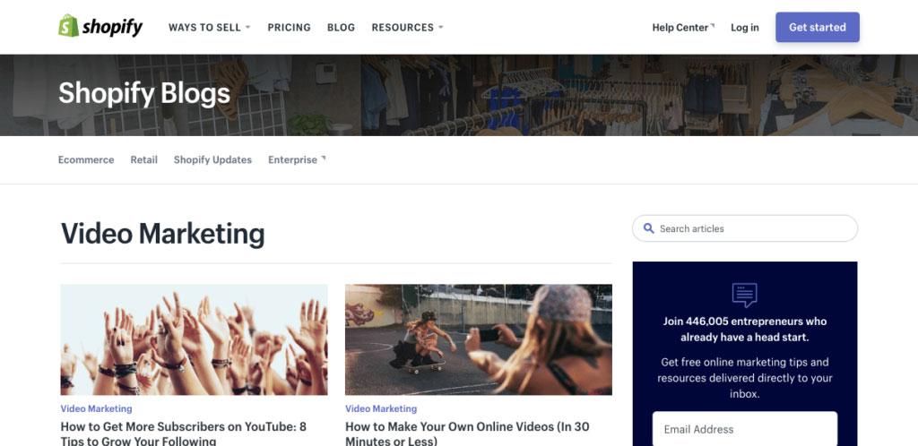 Shopify-Video Marketing Blog