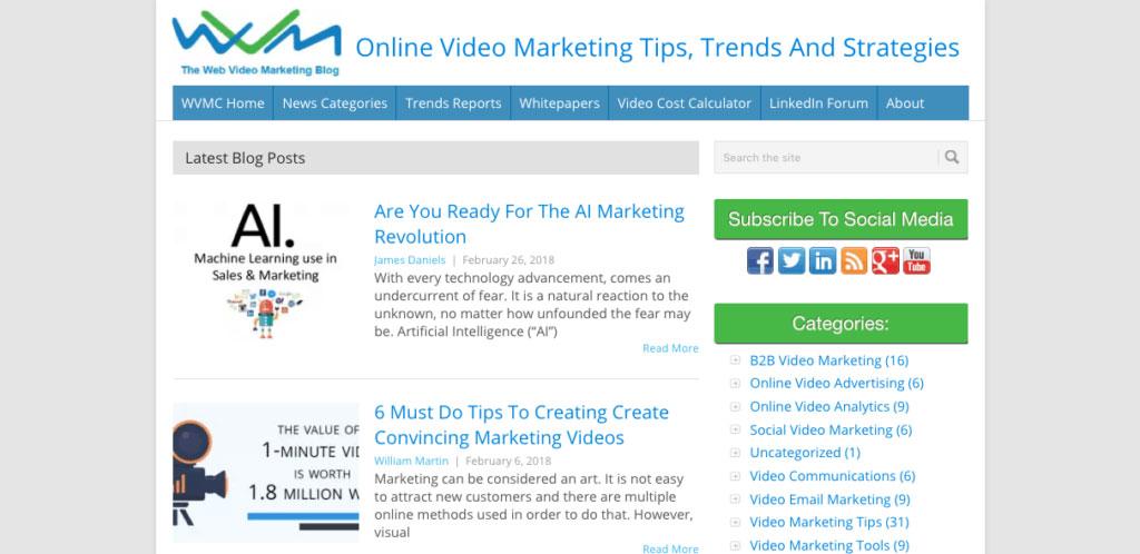 Web Video Marketing Blog