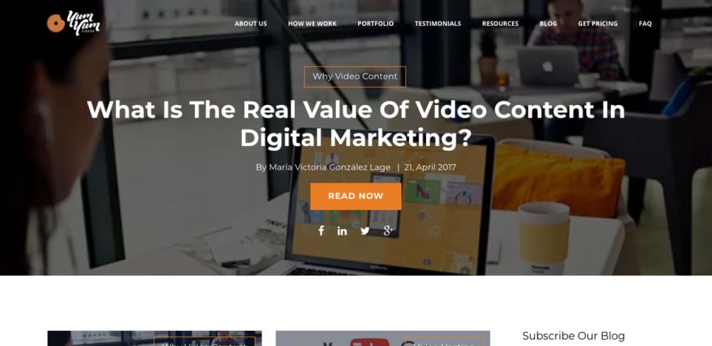 Yum Yum- Business Video Marketing Blog