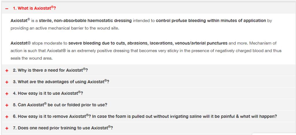 Axiostat - FAQ Page