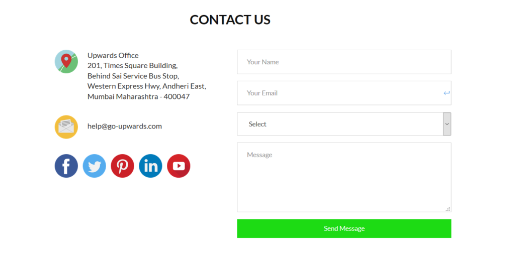 Go Upwards - best contact us pages