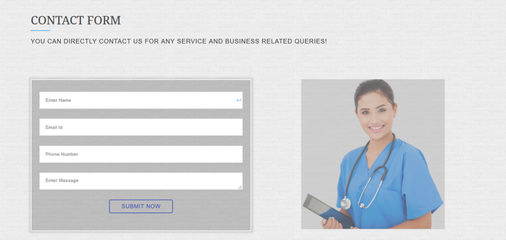 Healwell24 - best contact us pages