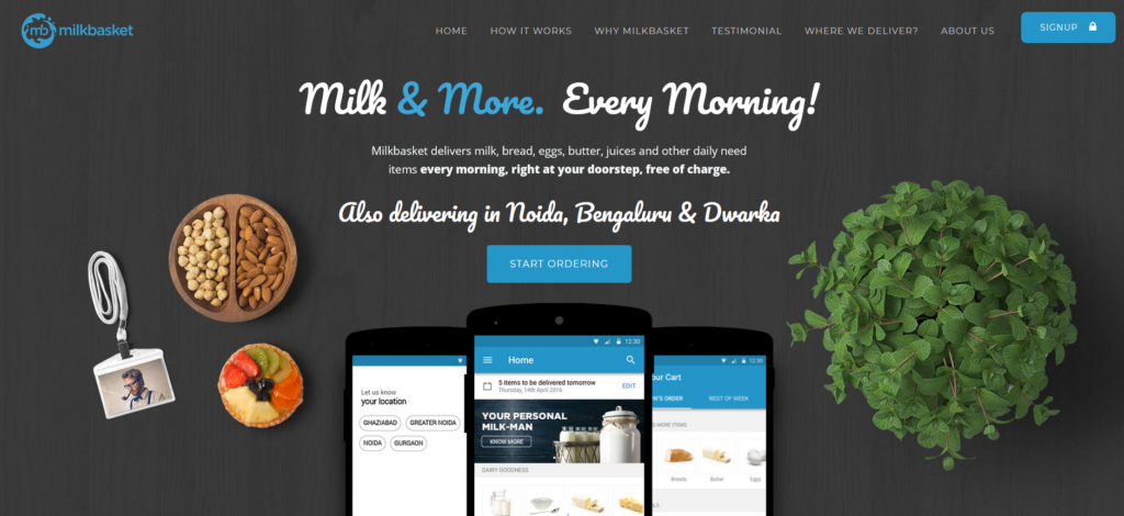 Milkbasket - best homepage design