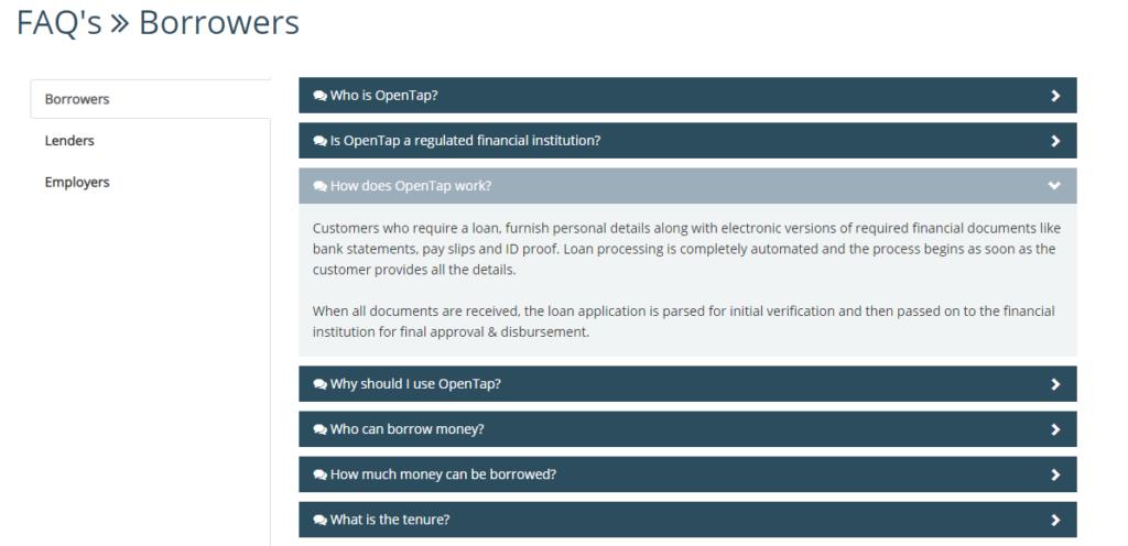 Opentap - FAQ Page