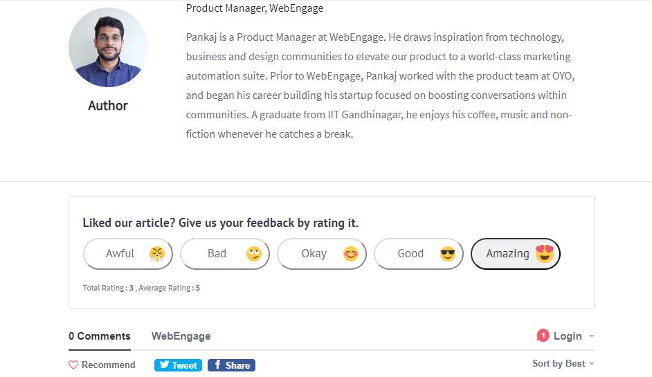 Webengage - Blog page