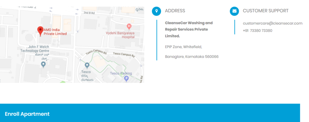 Cleansecar - best contact us pages