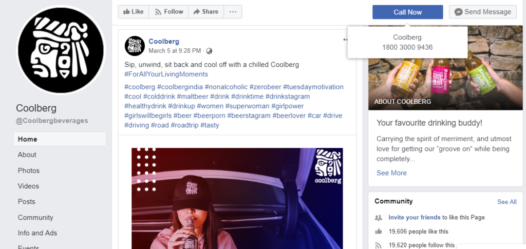 Coolberg - Facebook Page