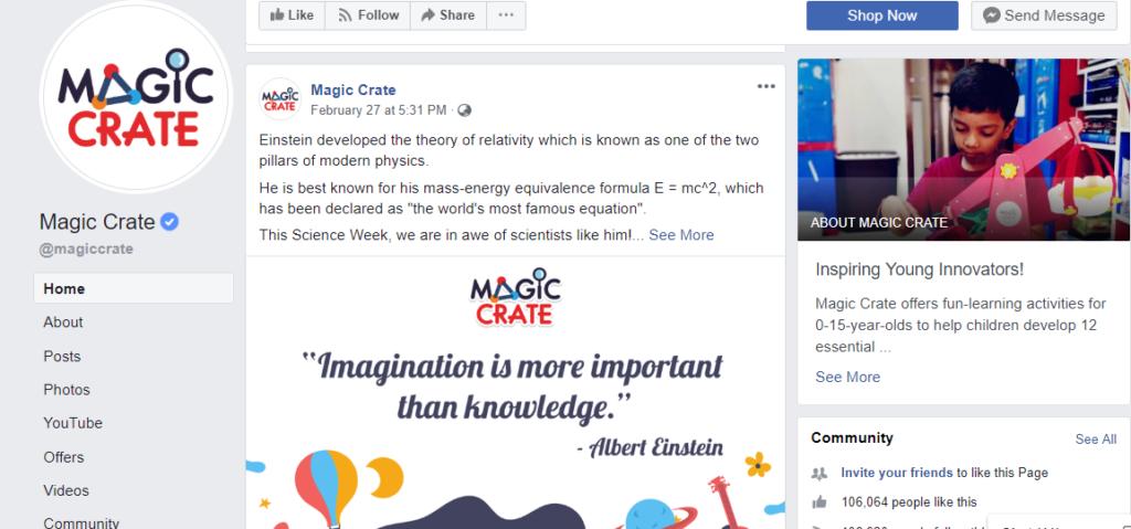 Magic Crate - Facebook Page
