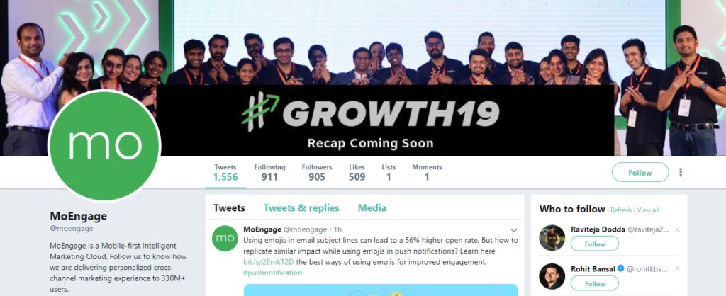 MoEngage - best twitter accounts