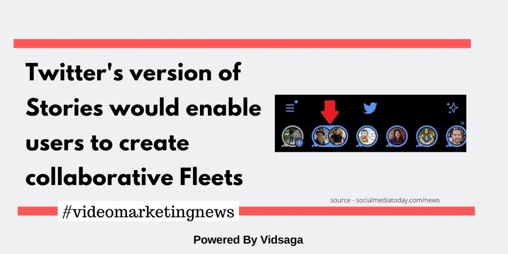 Twitter's version of Storieswould enable users to create collaborative Fleets