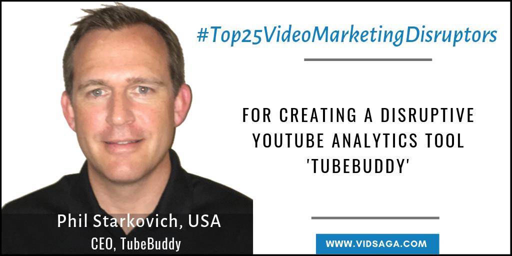 MPhil Starkovich - CEO, Tubebuddy