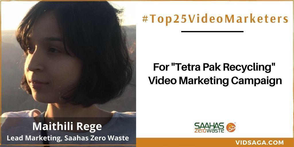 Maithili Rege - video marketing disruptor