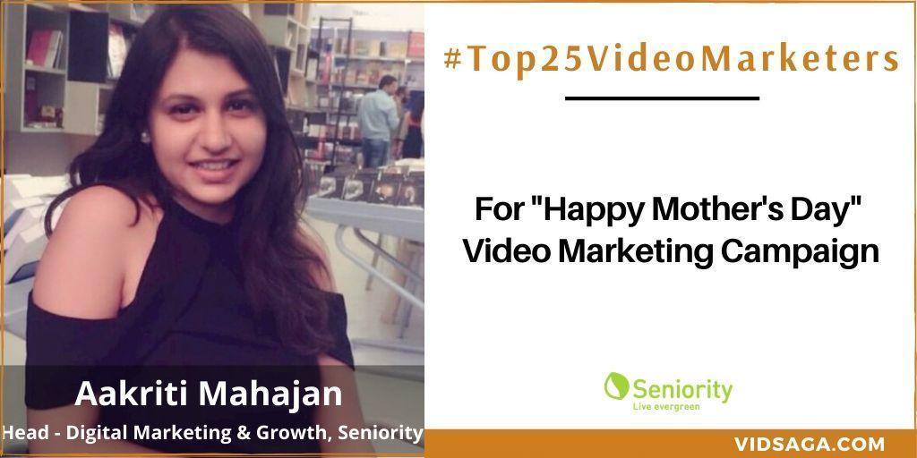 Aakriti Mahajan - video marketing disruptor