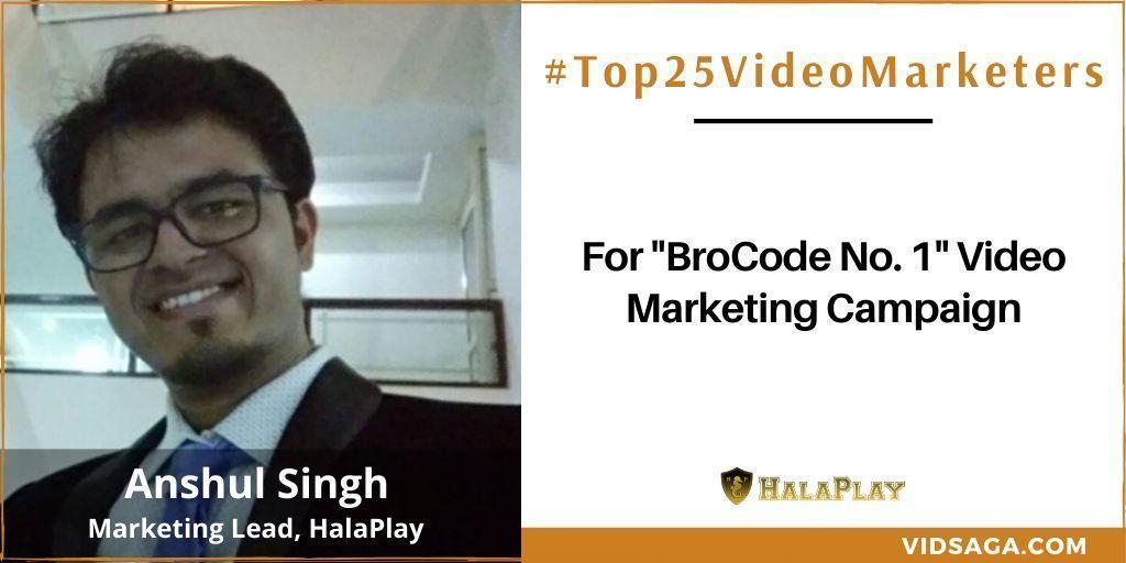 Anshul Singh - video marketing disruptor