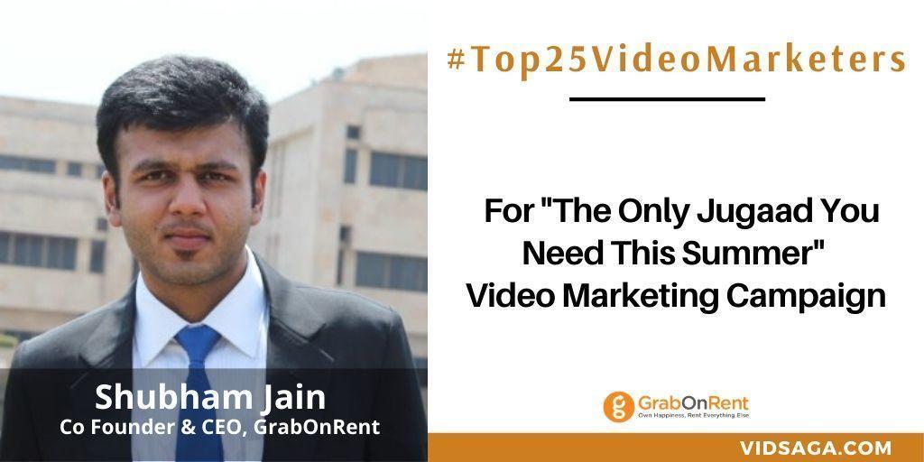 Shubham Jain - video marketing disruptor