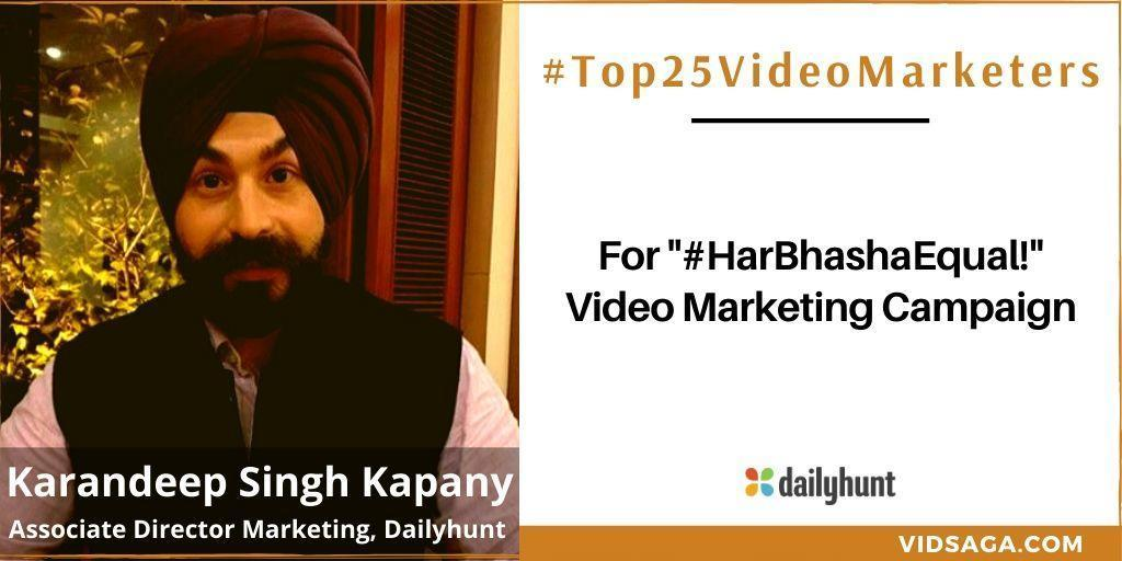 Karandeep Singh Kapany - video marketing disruptor