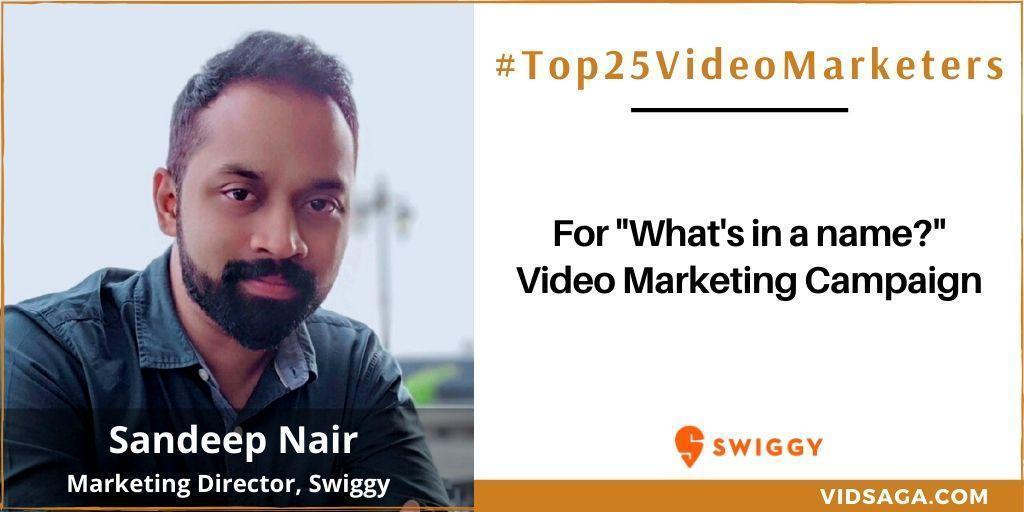 Sandeep Nair - video marketing disruptor