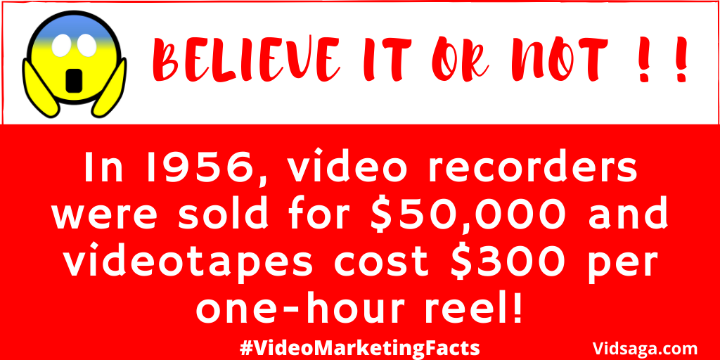 video marketing facts - video recorders and videotapes history