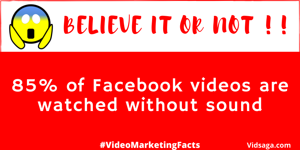 85% facebook videos watched without sound