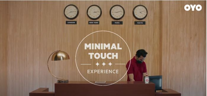 minimal touch experience - oyo