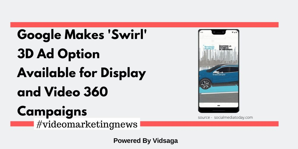 Google Makes'Swirl' 3D Ad Option Available for Display and Video 360 Campaigns