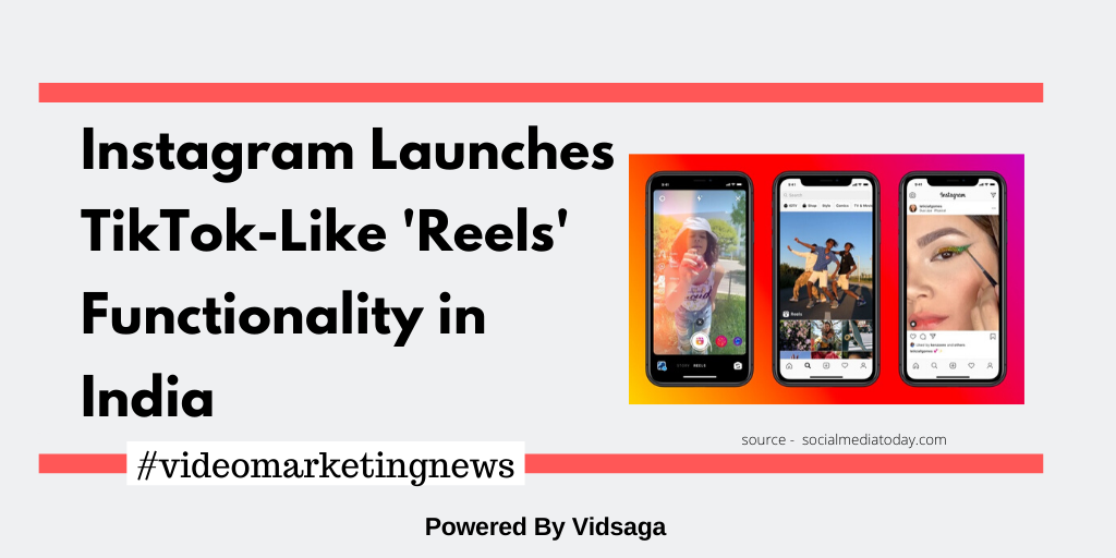 Instagram Launches TikTok-Like'Reels' Functionality in India