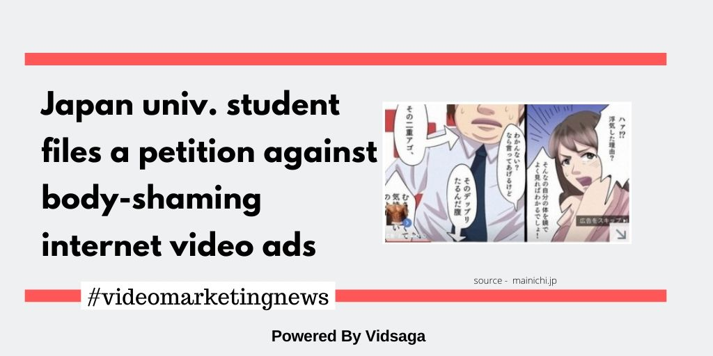 Japan univ. student files a petition against body-shaming internet video ads
