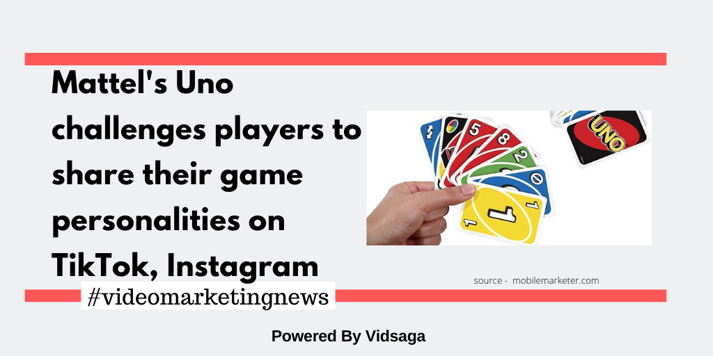 Mattel's Uno challenges players to share their game personalities on TikTok, Instagram