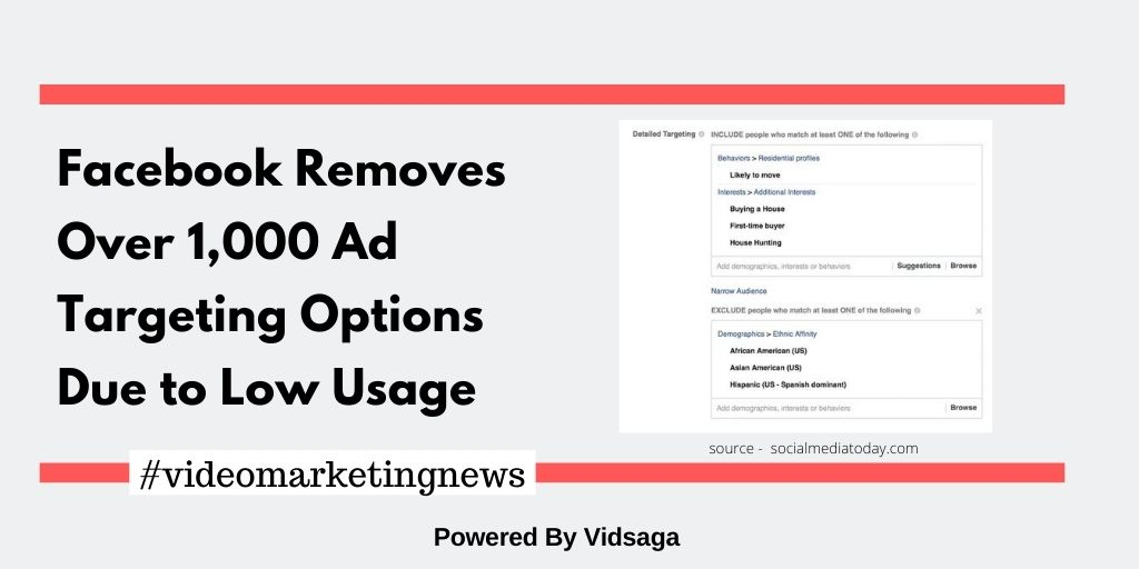 Facebook Removes Over 1,000 Ad Targeting Options Due to Low Usage