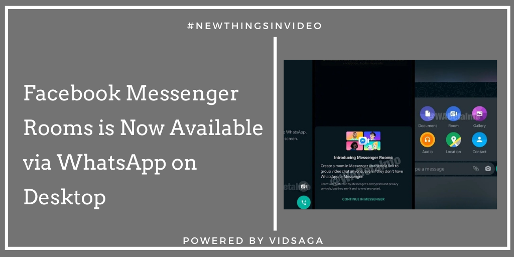 Facebook Messenger Rooms is Now Available via WhatsApp on Desktop