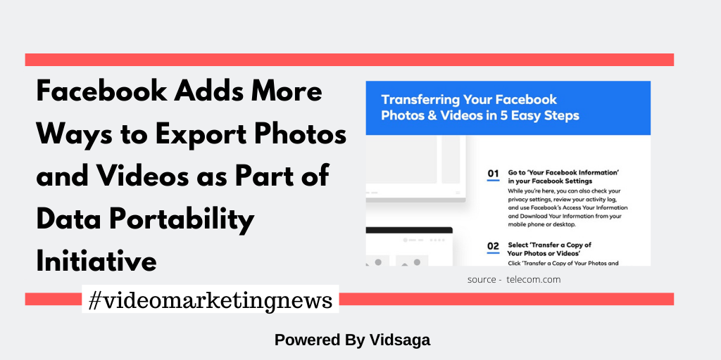 Facebook Adds More Ways to Export Photos and Videos as Part of Data Portability Initiative