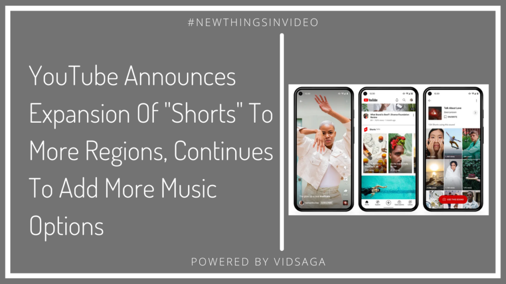 youtube announces expansion of shorts to add more music options