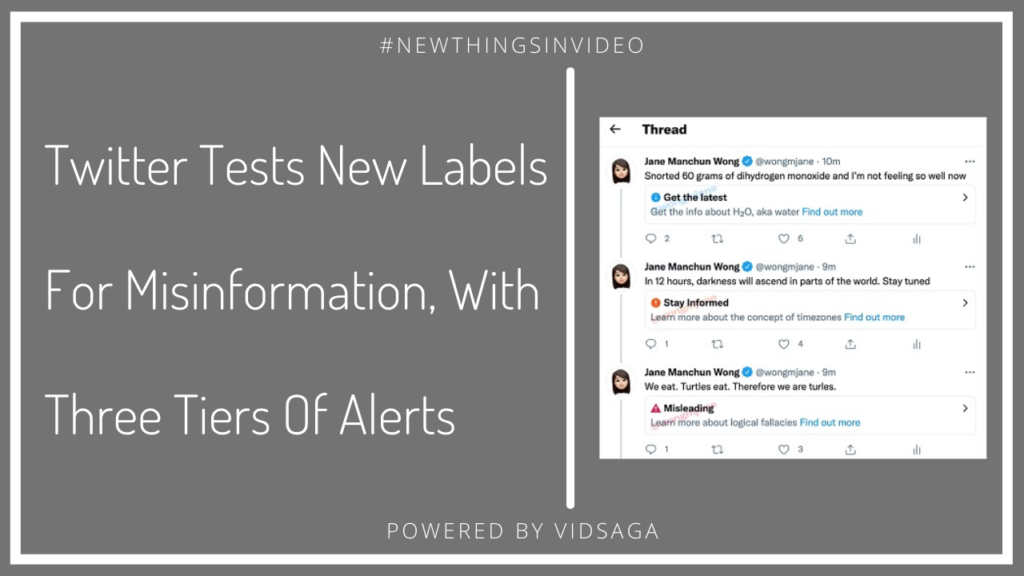 twitter test new labels for misinformation