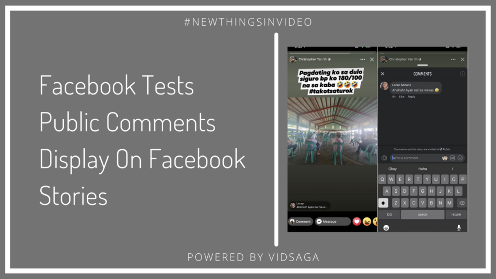 Facebook Tests Public Comments Display on Facebook stories
