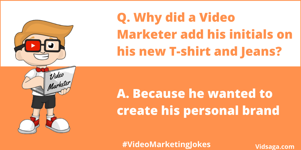 video marketer initials - personal brand