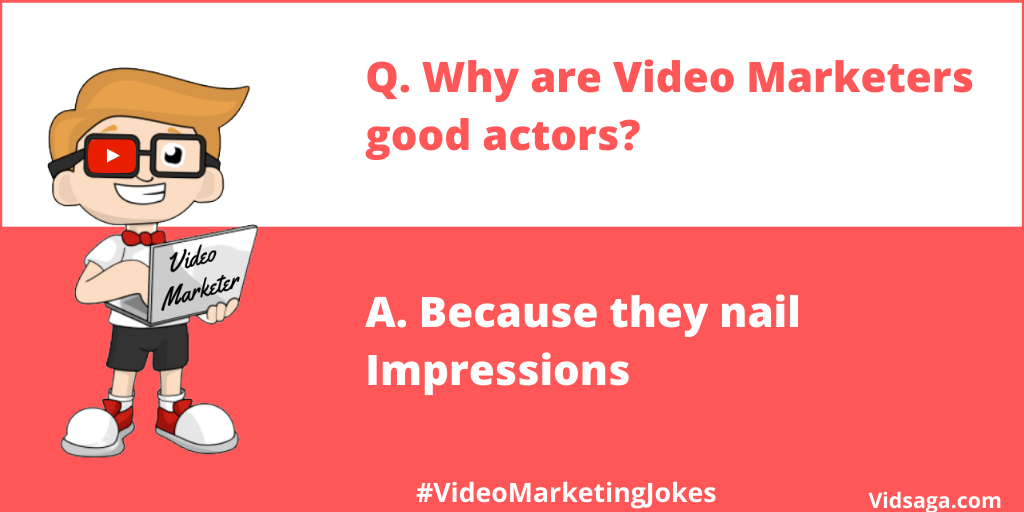 video marketing joke - video marketer good actors - nail impressions