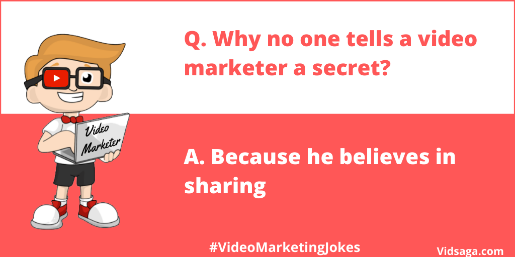 video marketer secret sharing